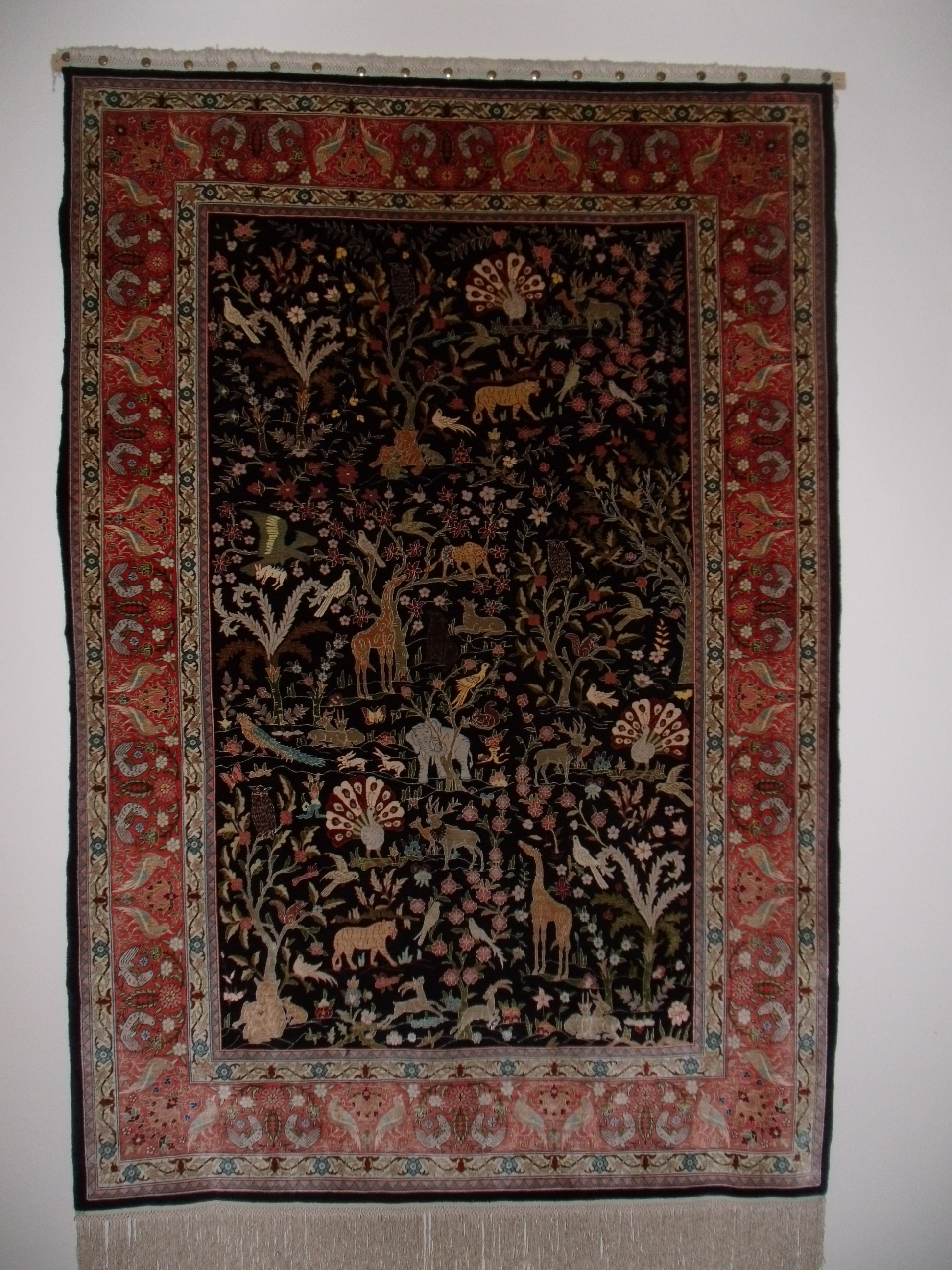 Hereke Silk Rug Super Fine Kpsi 1300